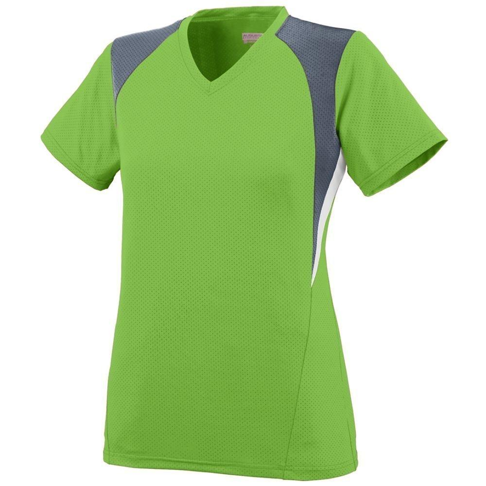 Augusta SportswearレディースMysticジャージー B00IUJHRXQ Small|Lime/Graphite/White Lime/Graphite/White Small