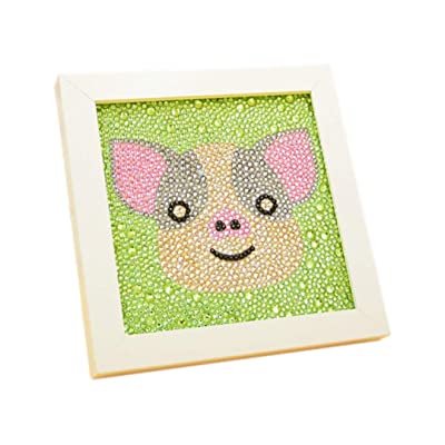 Multifit 5D DIY Diamond Painting Full Drill Kits for Kids, Painting by Numbers Kits Handmade Arts and Crafts Set for Children with Frame(Little Pig): Toys & Games