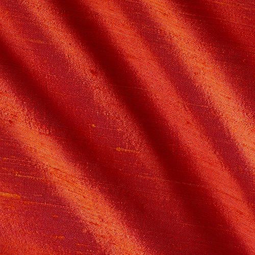 Angus International Dupioni Silk Fabric Iridescent, Coral