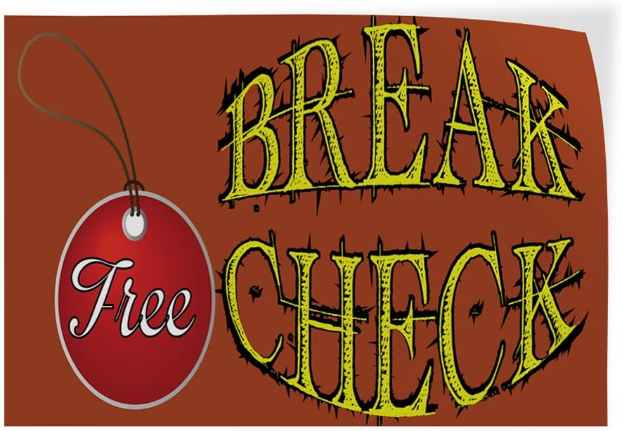 Decal Sticker Multiple Sizes Break Check Free Automotive Free Brake Check Outdoor Store Sign Brown 52inx34in Set of 5