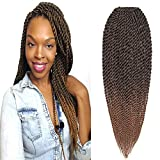 "Befunny 8Packs 18"" Senegalese Twist Crochet Hair Braids Small Havana Mambo Twist Crochet"