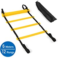 Agility Ladder, 20 Ft 12 Rung Speed Exercise Ladders with Carry Bag - Adjustable Distance, Easy Portability - for Football, Soccer, Basketball Training