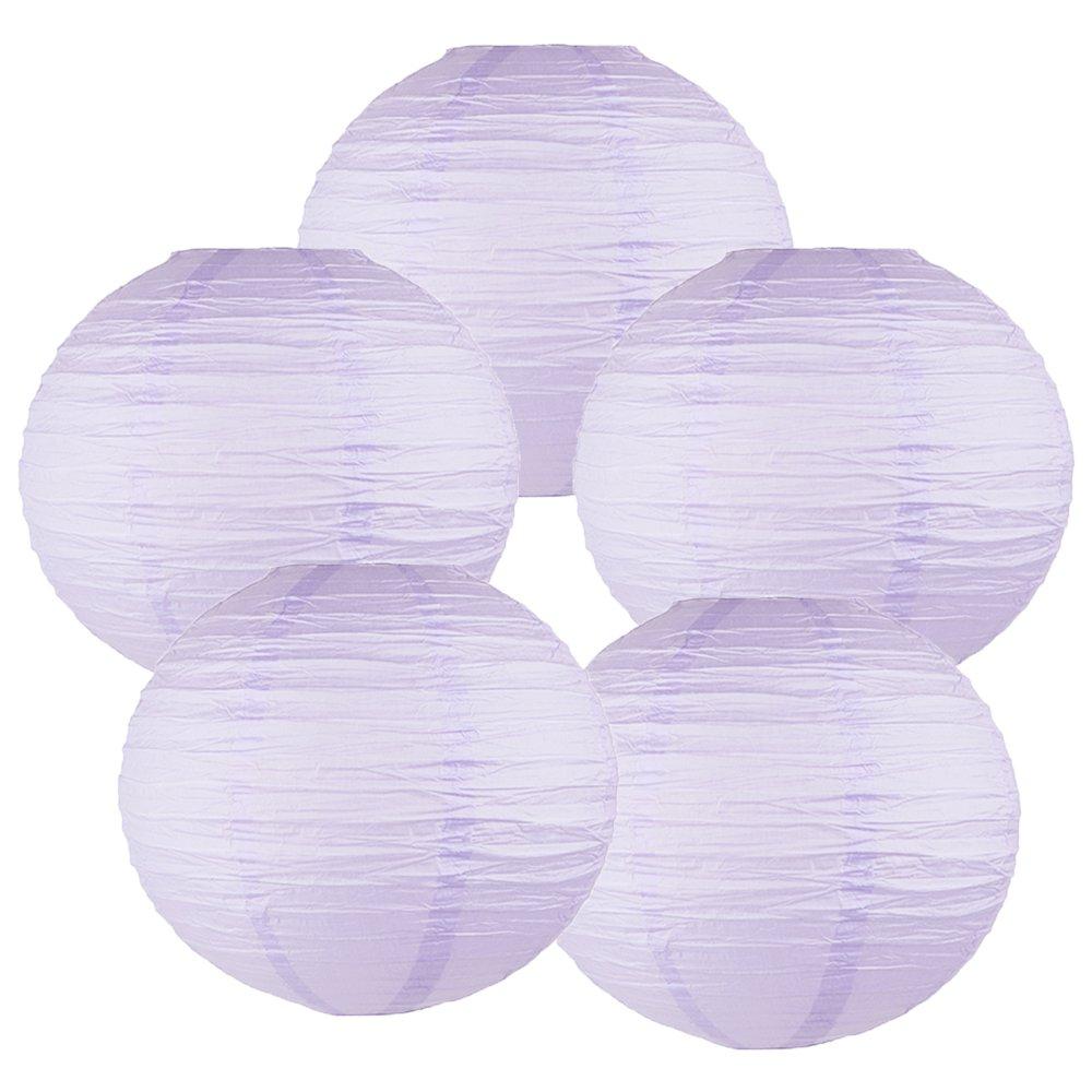 Just Artifacts ペーパーランタン5点セット - (6インチ - 24インチ) 18inch AMZ-RPL5-180030 B01CEX6L6W 18inch|Lavender Purple Lavender Purple 18inch