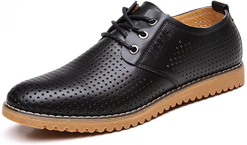 Breathable Leather Casual Shoes Lace Up