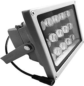 JC Infrared Illuminator 15-Led 60°Wide Angle High-Power IR Illuminator for 850nm IP Camera CCTV Analogue Security Surveillance Camera