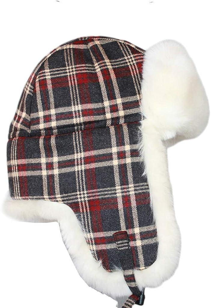 Plaid Trapper Fur Hats...