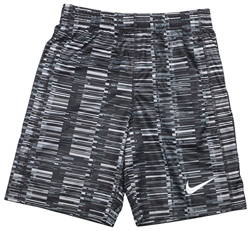 NIKE Little Boys' (4-7) Dri-Fit Fly Shorts-Black/Grey-6