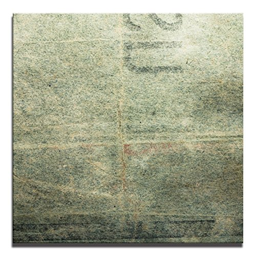 JP London Ready to Hang Made in North America Gallery Wrap Heavyweight Canvas Wall Concrete Art Grunge Graffiti Stamp 14in SQSCNV2268