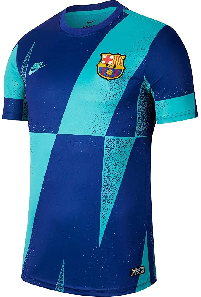 Amazon Com Nike 2019 2020 Barcelona Pre Match Dry Training Football Soccer T Shirt Jersey Cabana Clothing