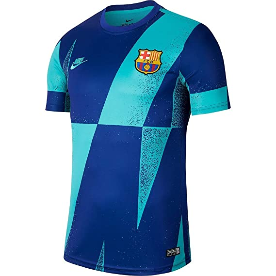 Nike 2019 2020 Barcelona Pre Match Dry Training Football Soccer T Shirt Jersey Cabana Amazon In Clothing Accessories