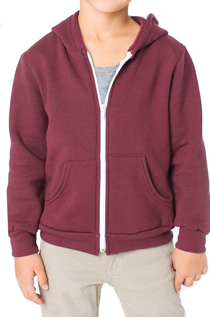 ASBAHFASHION Kids Unisex Boys Girls Fleece Apparel Plain Long Sleeve Sweatshirts Hoodies