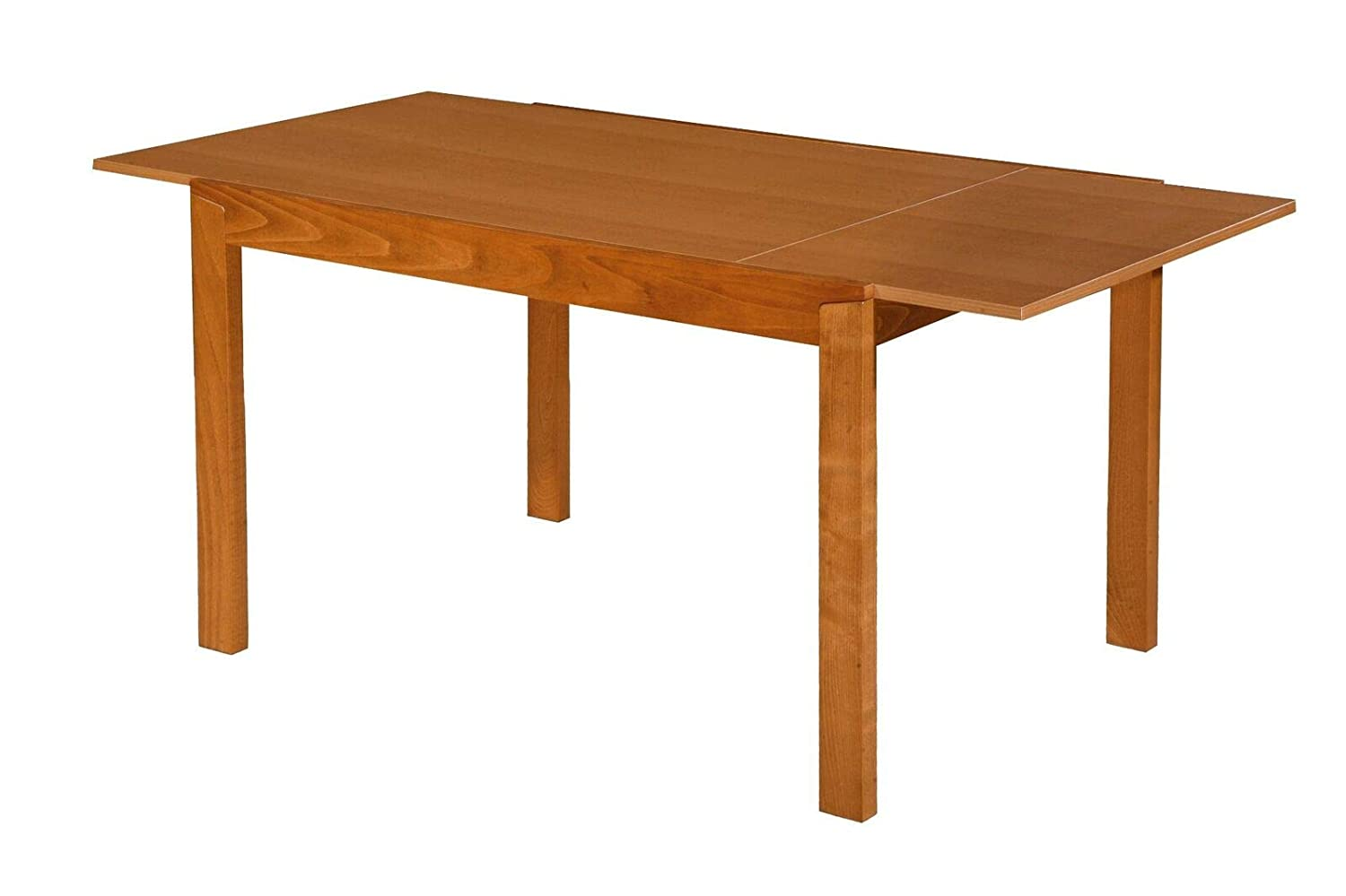 Bravich Extending Dining Table Wood Extendable Kitchen Furniture Sturdy Solid 4//6//8 Seater Honey Oak 120x80x74cm