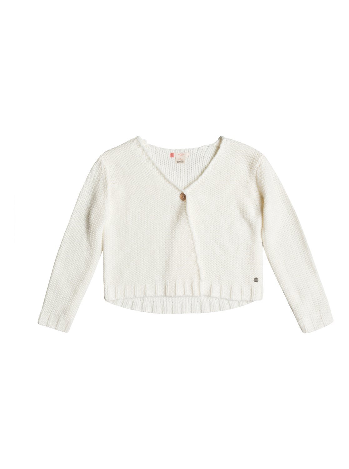 Roxy Girls Unreflecting Love - Knitted Cardigan - Girls 7-14 - 12 - White Marshmellow 12/L