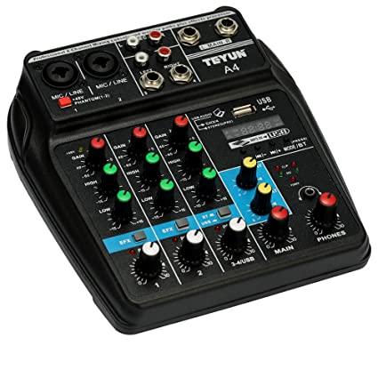 Docooler TU04 BT Sound Mixing Console Record 48V Phantom