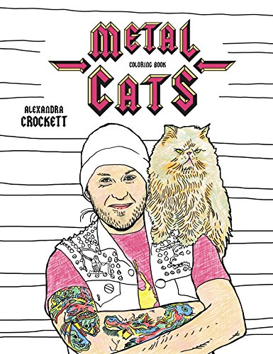 Band Music Punk Rock T-shirt - Metal Cats Coloring Book