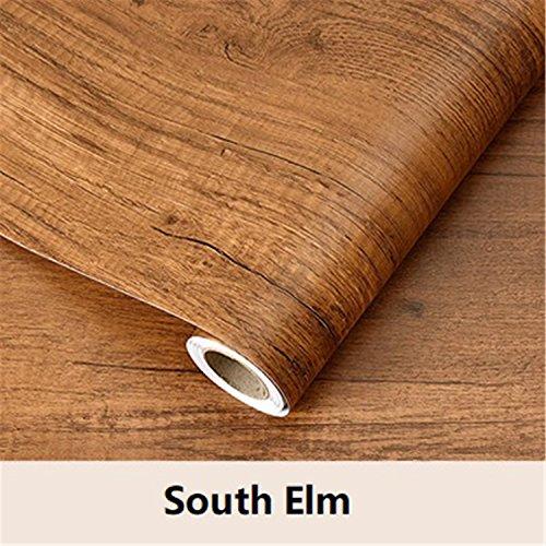 Wood grain Home Decor Furniture Vinyl Wrap Waterproof Wall Sticker Self Adhesive PVC Wallpaper Kitchen Desk Door South Elm - Zebra Elm