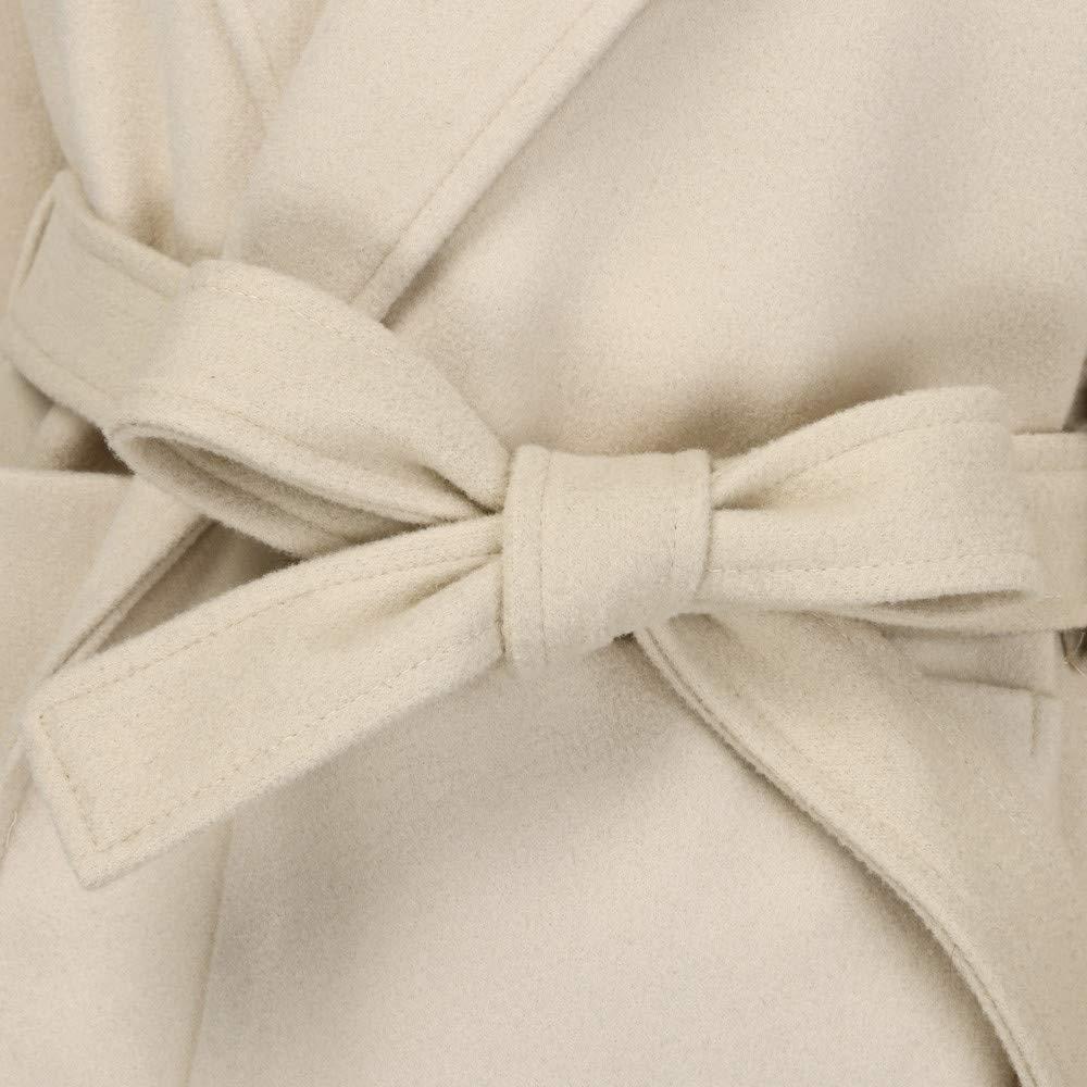 Amazon.com: AOJIAN Women Jacket Long Sleeve Outwear Belt Solid Cardigan Elegant Overcoat Trench Coat: Clothing