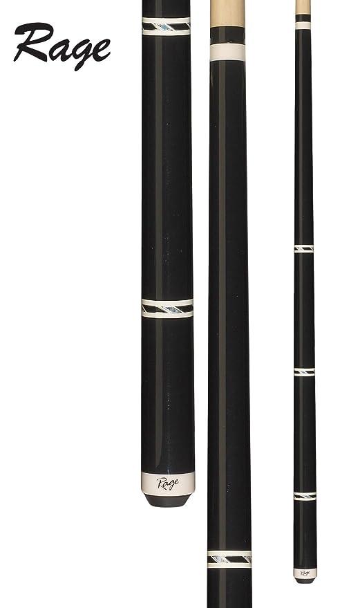 Rage rg96 Graphic metálico Negro con Blanco y Negro/Plata Bandas ...