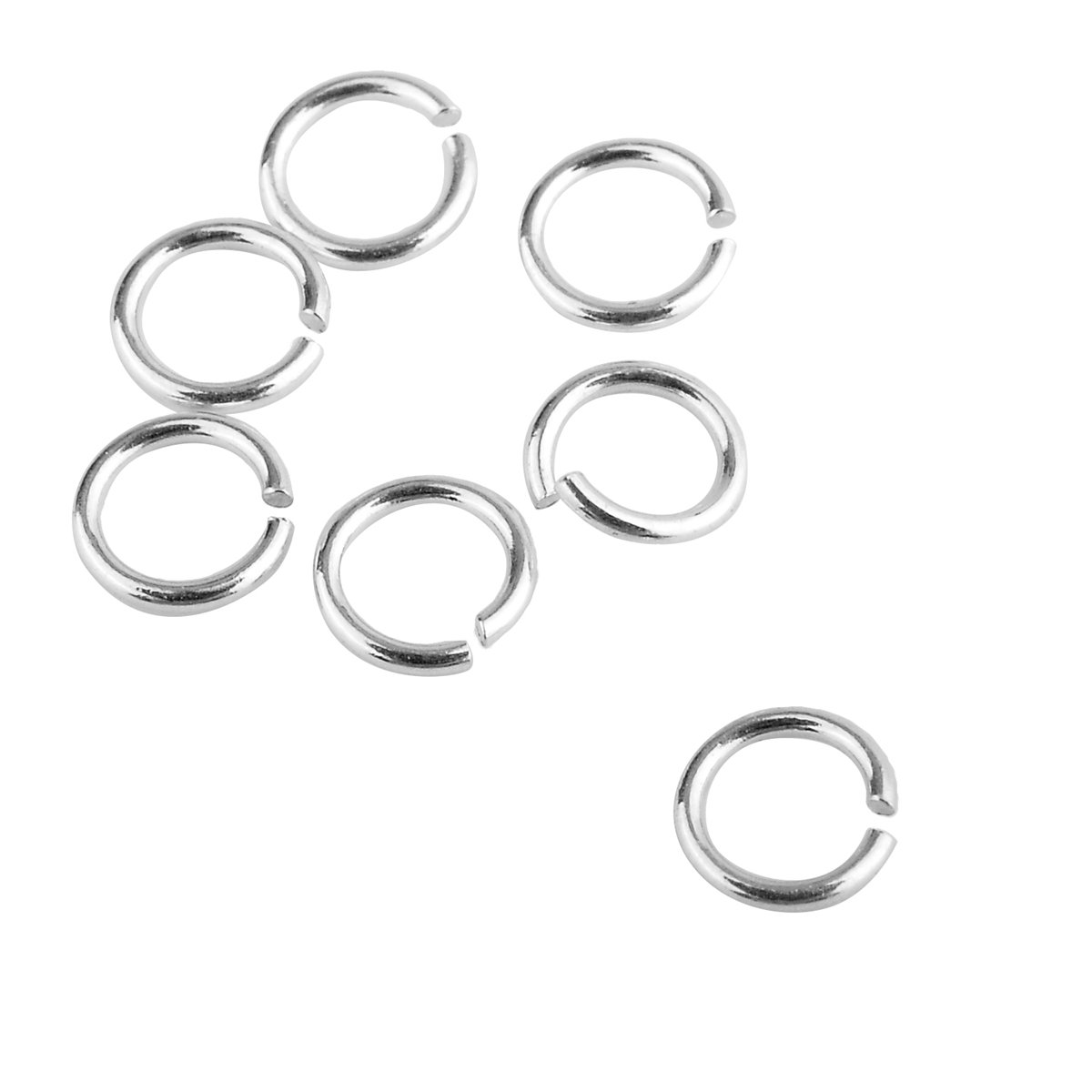 200PCS 925 Sterling Silver Open Jump Ring for DIY Jewellery Making Findings 2.5mmx0.5mm Yin Feng 0AF0SA0B4B