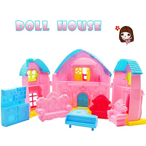 Amazon Com Eelhoe Doll Housedoll House Dollhouse For Lol Doll House