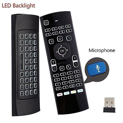 Teclado retroiluminado del ratón del aire Kodi Remote MX3 Pro, 2.4Ghz Mini Wireless Android