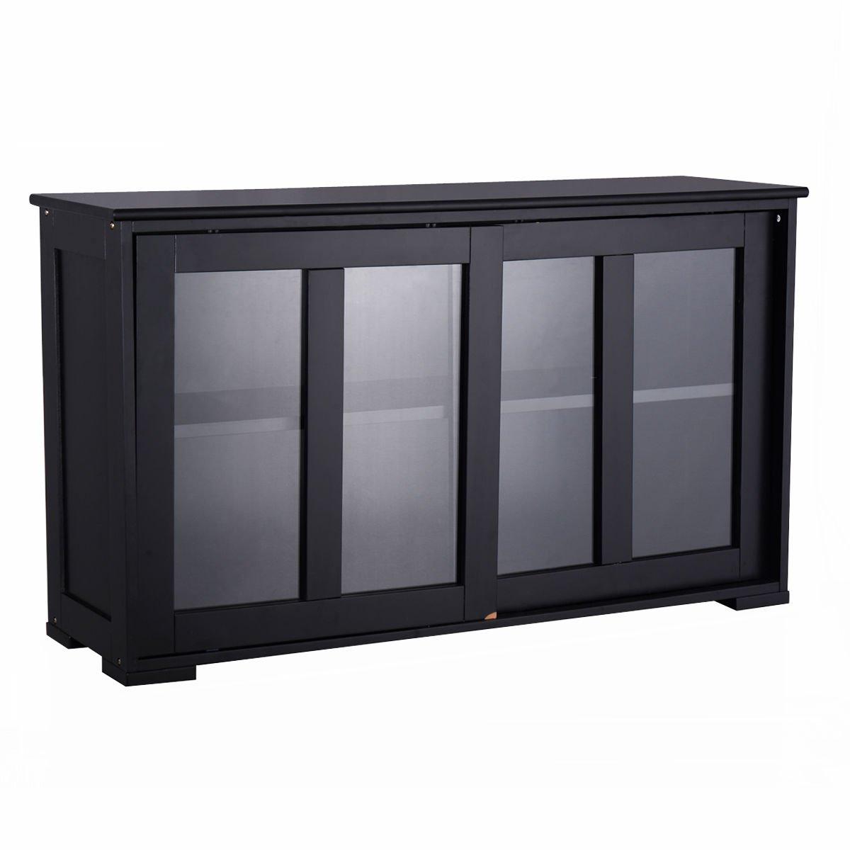 Heaven Tvcz Storage Cabinet Sideboard Buffet Server Wine Cupboard Glass Sliding Door Pantry Kitchen Pantry Display Hutch Furniture