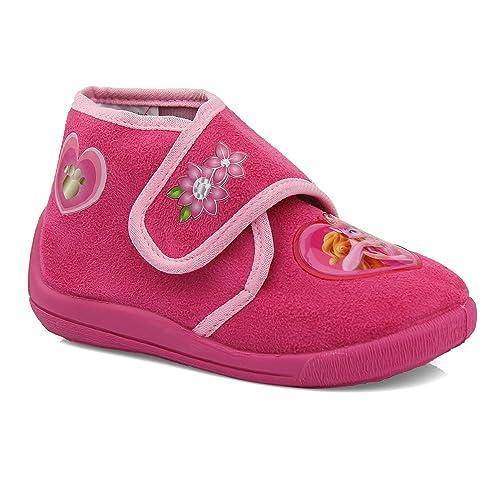 Disney Princess - Zapatillas de estar por casa de Terciopelo para niña Rosa rosa: Amazon.es: Zapatos y complementos