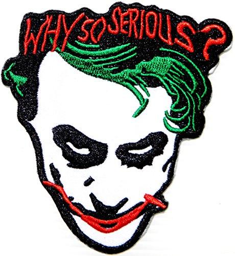 WHY SO SERIOUS ? The Joker Logo Halloween