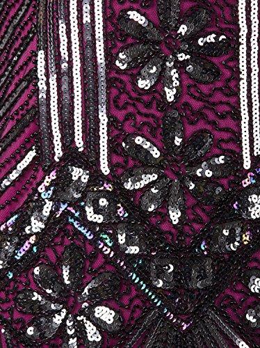 Rosa Vestito Rosa Impreziosito Flapper 1920 Stile In Frange Gastby Donne Paillettes Vijiv Liberty TCPxwqBU8n