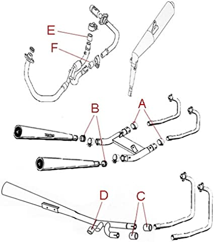 Auspuffverbindungsdichtung 40 X 44 X 24 5 Centauro Für Yamaha Xv 1000 Tr Xv 750 Se Xv750 Virago Xs 750 Xs750 Auto