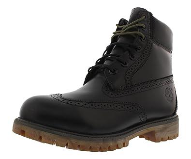 0ffd599a34a Amazon.com   Timberland 6 Brogue Boots Men's Shoes Size 8 Black   Boots
