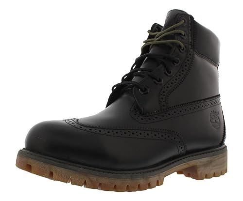 Brillante habla Campeonato  Buy Timberland Men's 6 Brogue Boots Shoes Black 11.5 D(M) US at Amazon.in