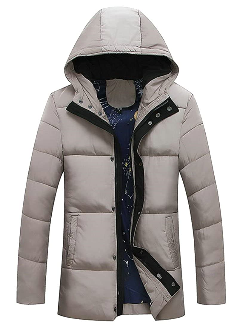 JXG-Men Long Sleeve Hooded Winter Thicken Warm Parka Coat