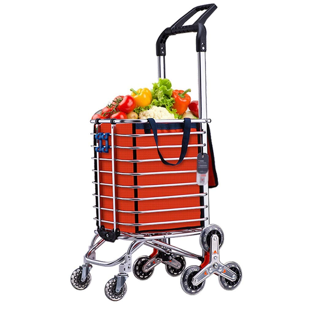 Xilinshop Portable Utility Carts Grocery Shopping Cart Folding Portable Trolley Car Can Climb Stairs Home Shopping Cart