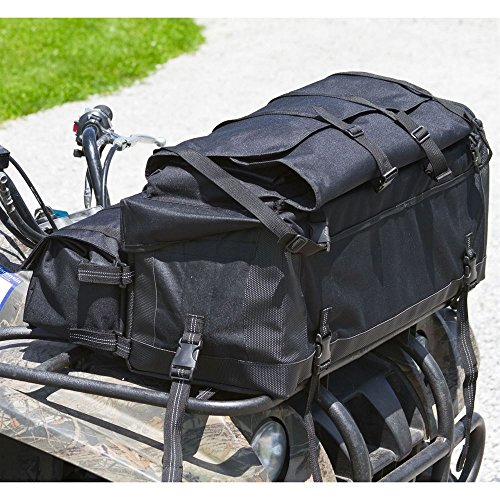Black Widow Rage Powersports ATV-FRBG-9010 ATV Cargo Rack Gear Bag with 57'' Soft Rifle Case (Front) by Black Widow (Image #4)