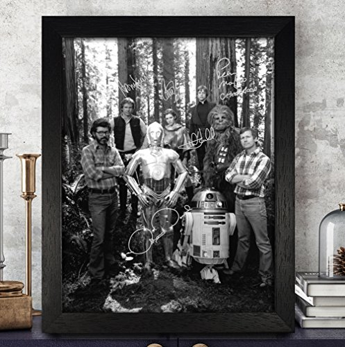 Star Wars Signed Autographed Photo 8X10 Reprint Rp Pp - Harrison Ford,Carrie Fisher,Mark Hamill,Peter Mayhew