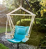BACKYARD EXPRESSIONS PATIO · HOME · GARDEN 914974 Backyard Expressions Hammock Chair and Stand, Aqua