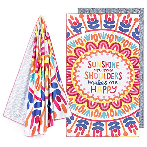 NovForth Microfiber Pool Beach Towel - Quick Dry Sand Free Proof Outdoor Rack Swim Micro Fiber Blanket Thin Yoga Mat Personalized Girls Women Men Body Pizza Fruit Funny(31.5