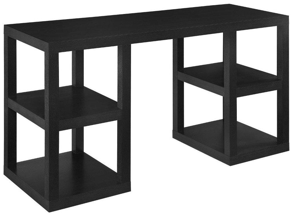 Ameriwood Home Deluxe Parsons Desk, Black Oak