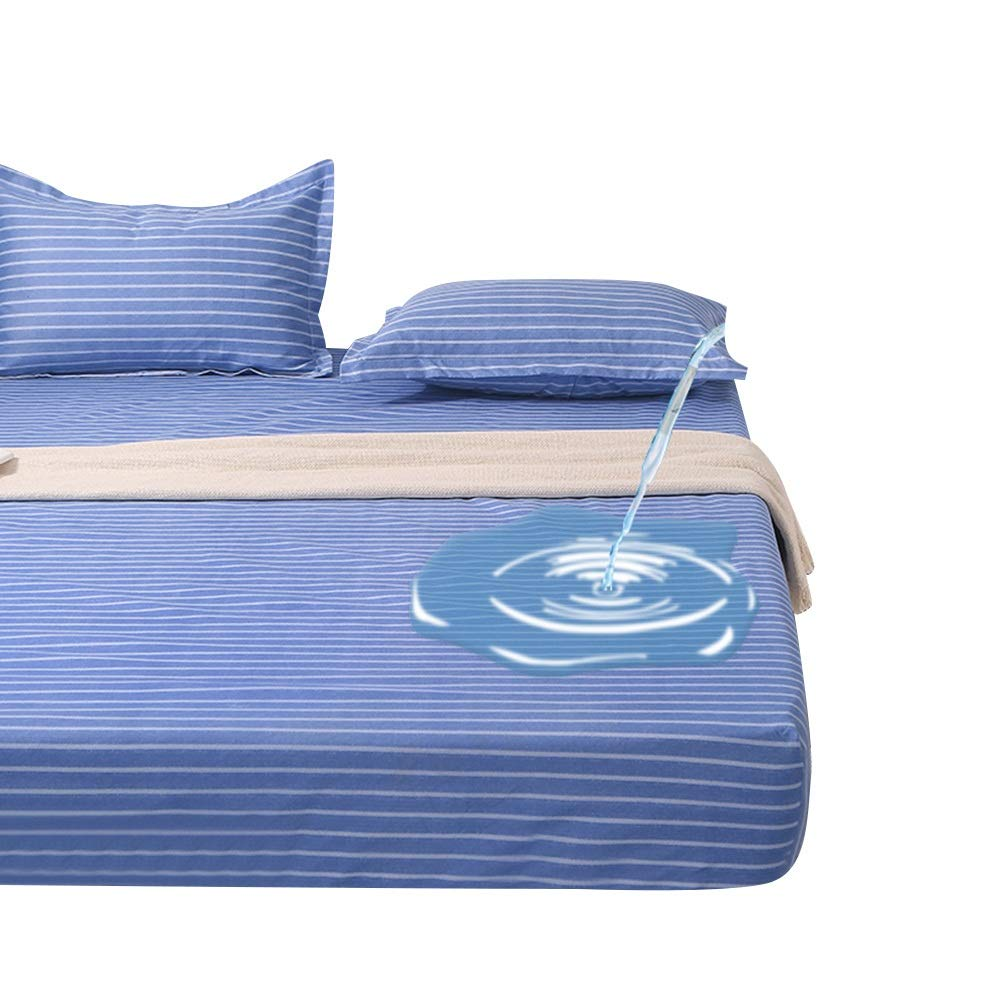 A 150X200cm ZHAOHUI Mattress Predector Polyester Waterproof Hypoallergenic Non-Slip Dust-Proof Breathable, 5 colors, 3 Sizes (color   B, Size   120X200cm)