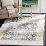 Safavieh Vintage Collection VTG440G Transitional Oriental Dark Blue and Cream Distressed Area Rug (5'1″ x 7'7″) Review