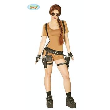 b3608cc1e NET TOYS Disfraz Aventurera - L (ES 44/46) | Traje Guerrera | Lara ...
