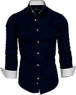 Amaci Sons Herren Slim Fit Hemd Bügelleicht Business Freizeit Shirt 50002 a2e424dfb7