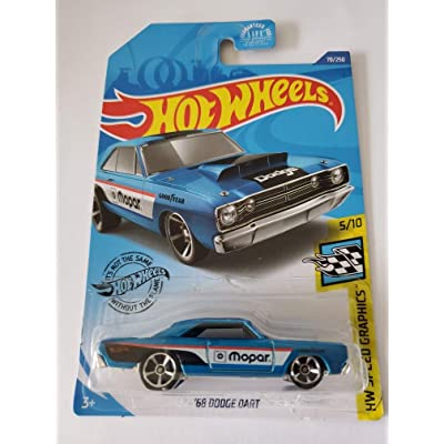Hot Wheels 2020 Hw Speed Graphics '68 Dodge Dart, Blue 70/250: Toys & Games