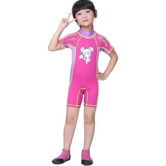 6d7b1560b SHRJJ Para Niños Protector Solar De Manga Corta Buceo Traje Pantalones  Cortos Trajes De Baño Surf Ropa Traje De Buceo Playa