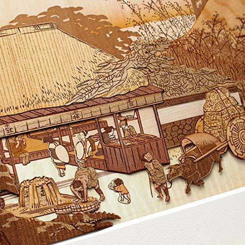 KINOWA Ukiyoe Art Kit Kiharie The Running Well Teahouse at Otsu by Hiroshige Made in Japan by KINOWA (Image #4)