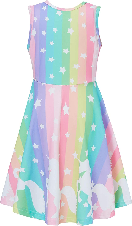 Adicreat Madchen Kleid Rundhals Blumen Beilaufig Knielange Sommerkleid 4 12 Jahre Bekleidung Kleider Questpark Com Ua