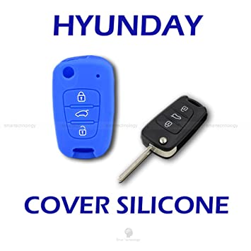 Caparazón carcasa (silicona) para protección concha mando llave 3 3 botones coche hyundai i10 i20 i30, ix20 ix35 Elantra Varios colores turquesa