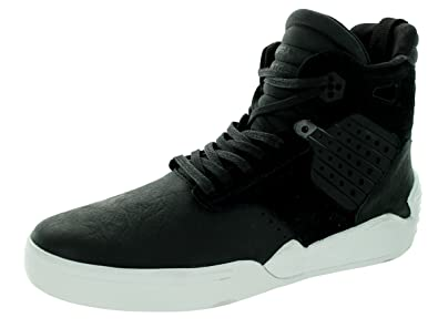 97c9d9312aa8 Image Unavailable. Image not available for. Color  Supra Skytop IV Mens  Black Leather High Top ...