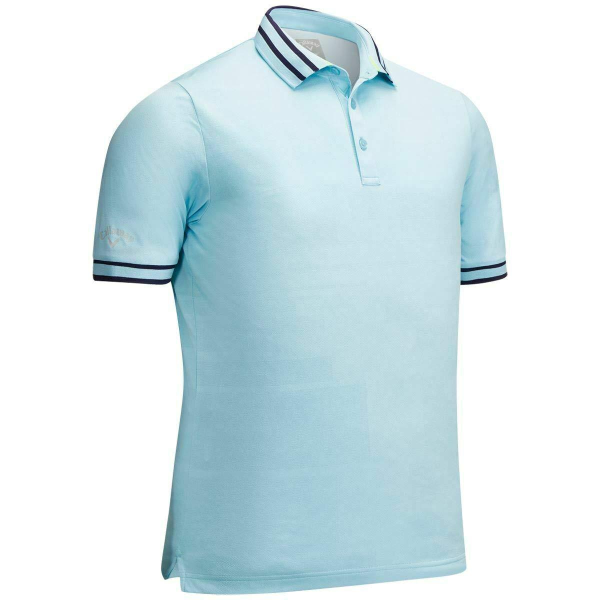 スポーツ/アウトドア/ゴルフ/ウェア/メンズ/シャツ/ポロシャツ/Callaway 2019 Block Texture Embroidered Contrast Opti-dri Mens Golf Polo Shirt M  B07QPK616G